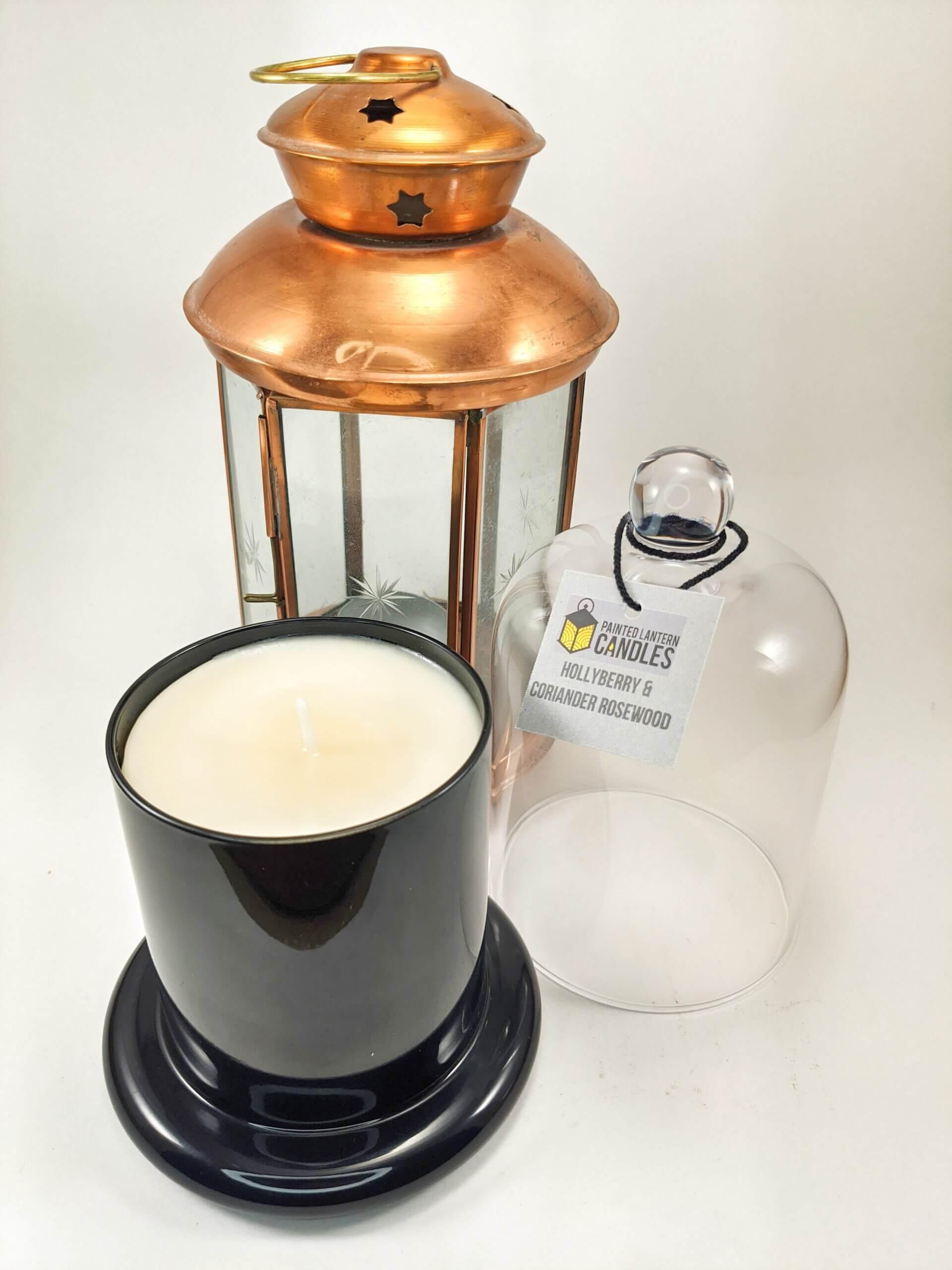 Hollyberry & Coriander Rosewood Bell Jar Portrait