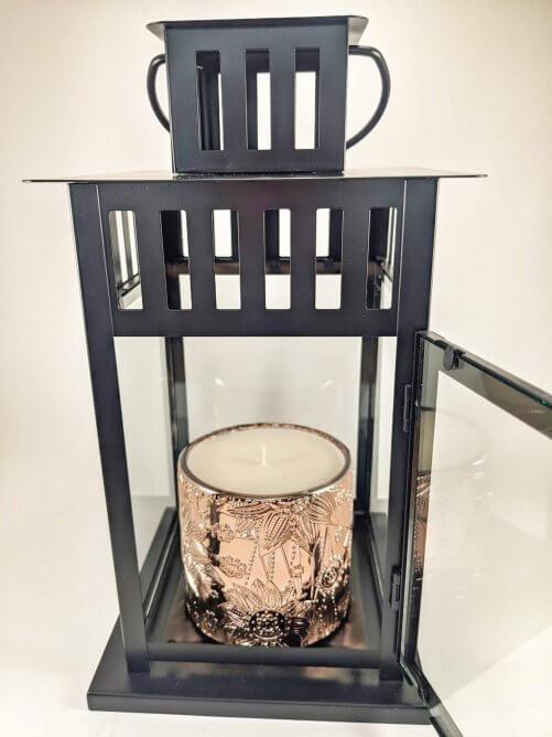 Red Sangria Flower Jar in Lantern