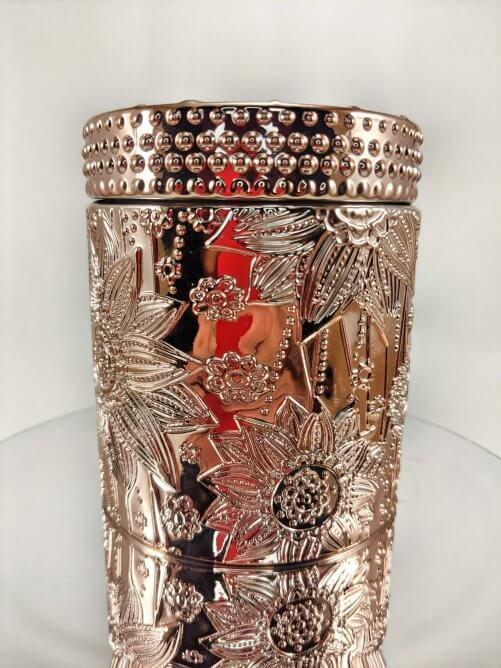 Red Sangria Flower Jar on Mirror Stand
