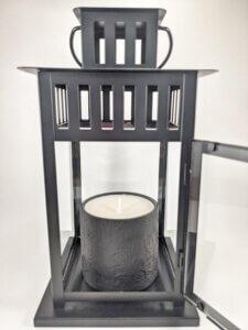 Hollyberry & Coriander Rosewood Flower Jar in Lantern