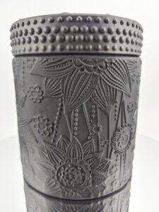 Hollyberry & Coriander Rosewood Flower Jar Mirror Stand