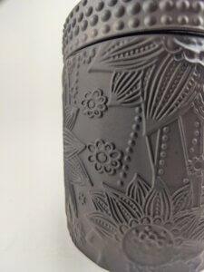 Hollyberry & Coriander Rosewood Flower Jar Side Detail