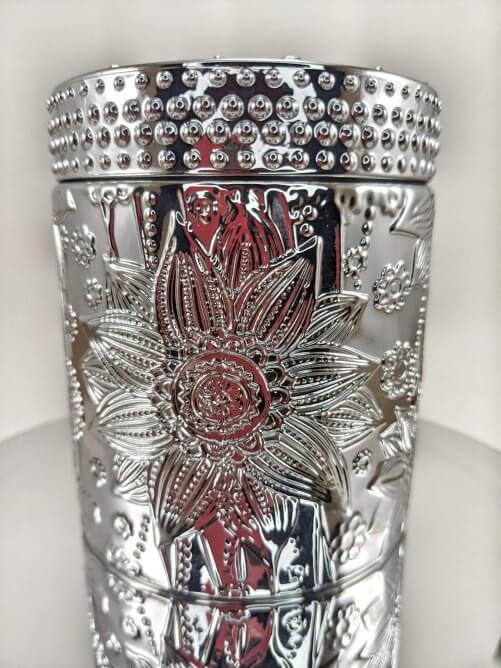 Frosted Juniper Flower Jar Mirror Stand