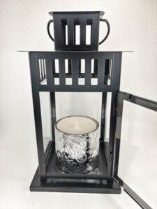 Frosted Juniper Flower Jar Lantern
