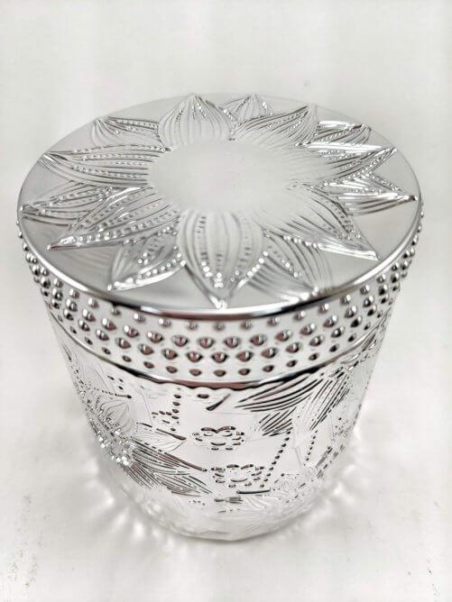 Frosted Juniper Flower Jar