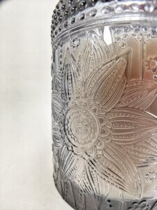 Midnight Jasmine Flower Jar Side Detail