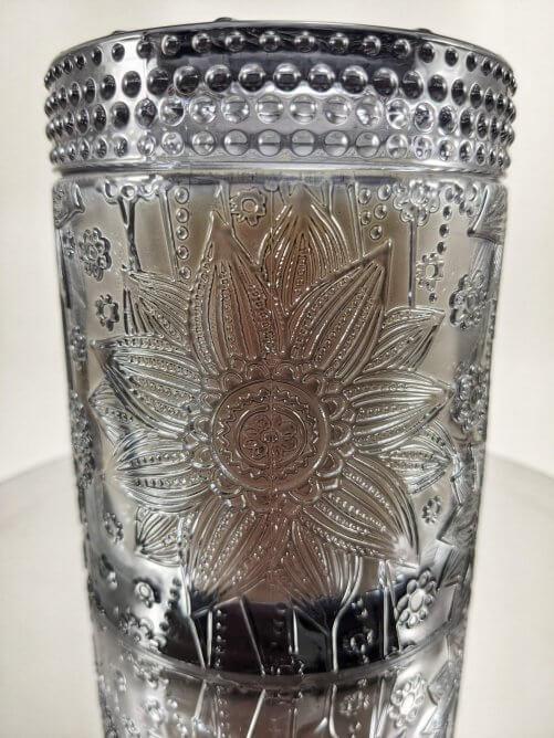 Midnight Jasmine Flower Jar on Mirror Stand