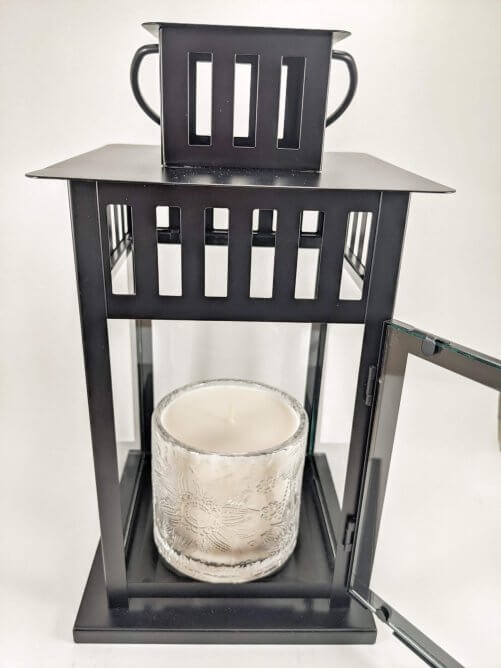 Sweet Vanilla Flower Jar in Lantern