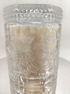 Sweet Vanilla Flower Jar on Mirror Stand