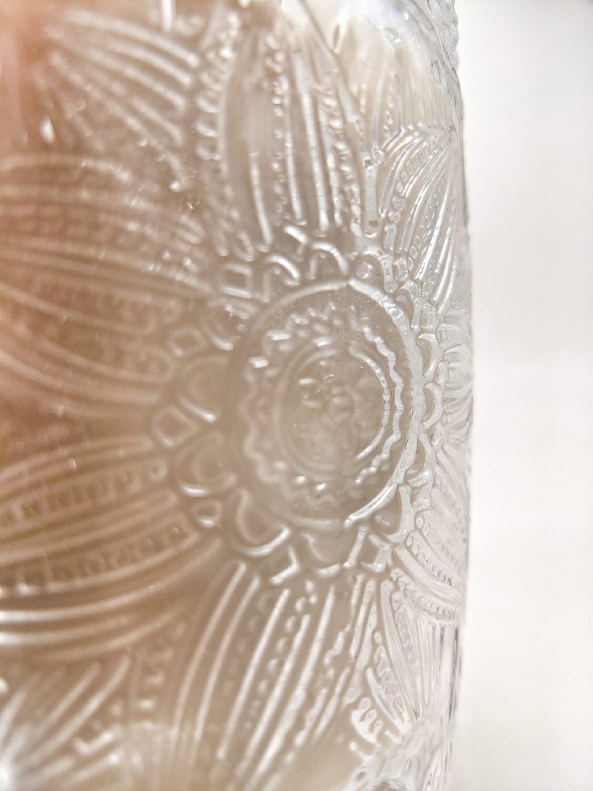 Sweet Vanilla Flower Jar Side Closeup