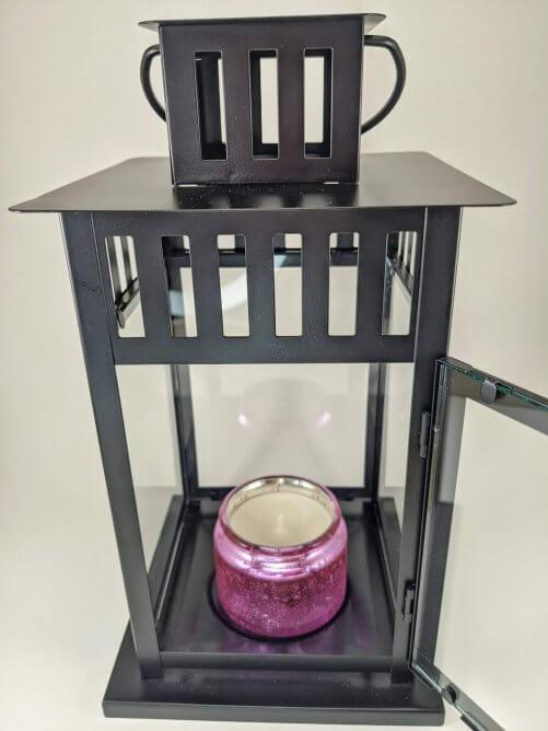 Lavender Small Jar in Lantern