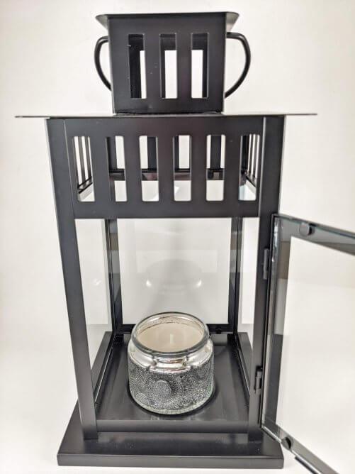 Frosted Juniper Small Jar in Lantern